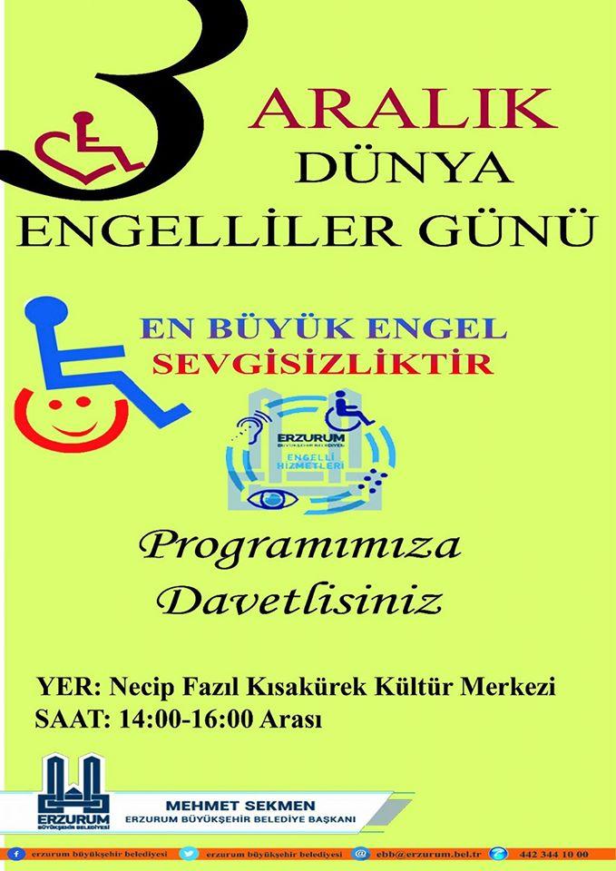 Etkinlikler Erzurum Büyükşehir Belediyesi